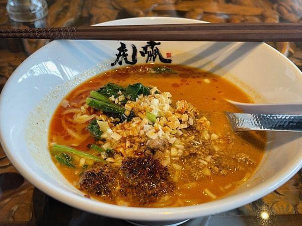【松江グルメ情報】ラーメン虎嘯(コショウ)の担々麺