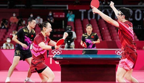オリンピック!歓喜!!卓球男女混合金メダル!